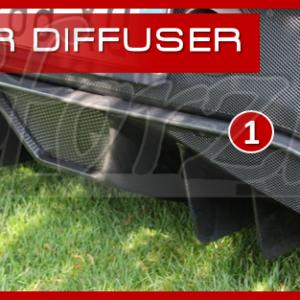 F430 carbonio diffusore posteriore