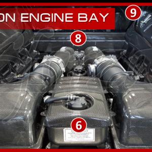 F430 vano motore carbonio