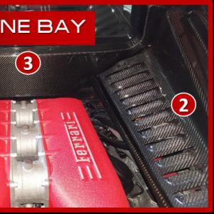 Ferrari 458 Italia vano motore carbonio