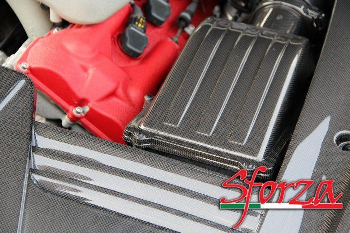 Ferrari 599 cover filtro aria motore carbonio