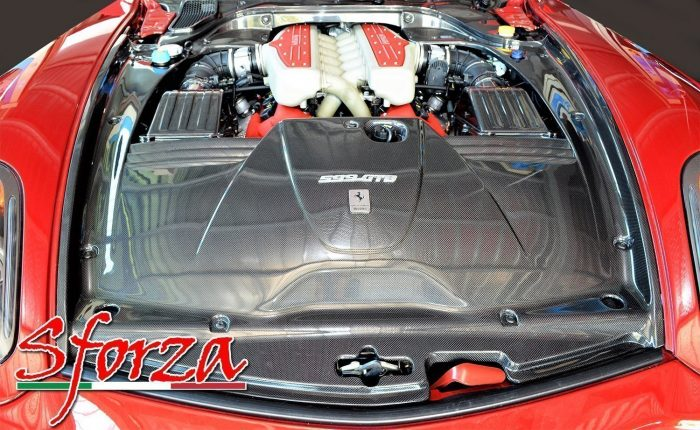 ferrari 599 cover motore carbonio
