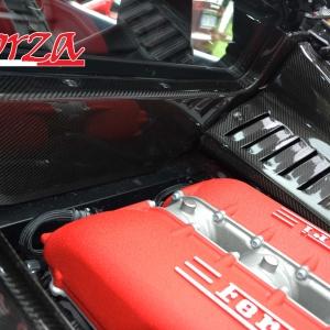 Ferrari 458 Italia carbonio paratia parafiamma