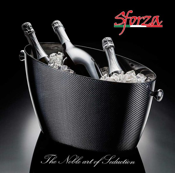 Glacette portaghiaccio Champagne Carbonio Sforza