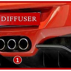 Ferrari 458 Italia diffusore posteriore carbonio