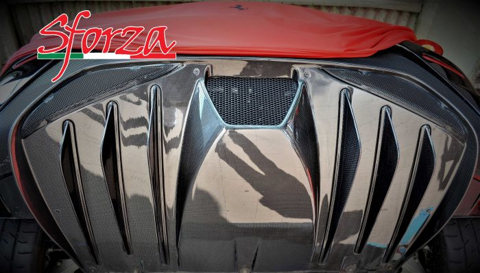 F430 Scuderia Estrattore carbonio posteriore