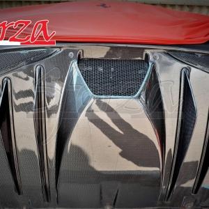 F430 Scuderia diffusore posteriore carbonio