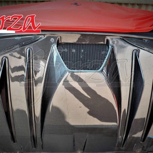 Ferrari F430 Scuderia diffusore carbonio con derive