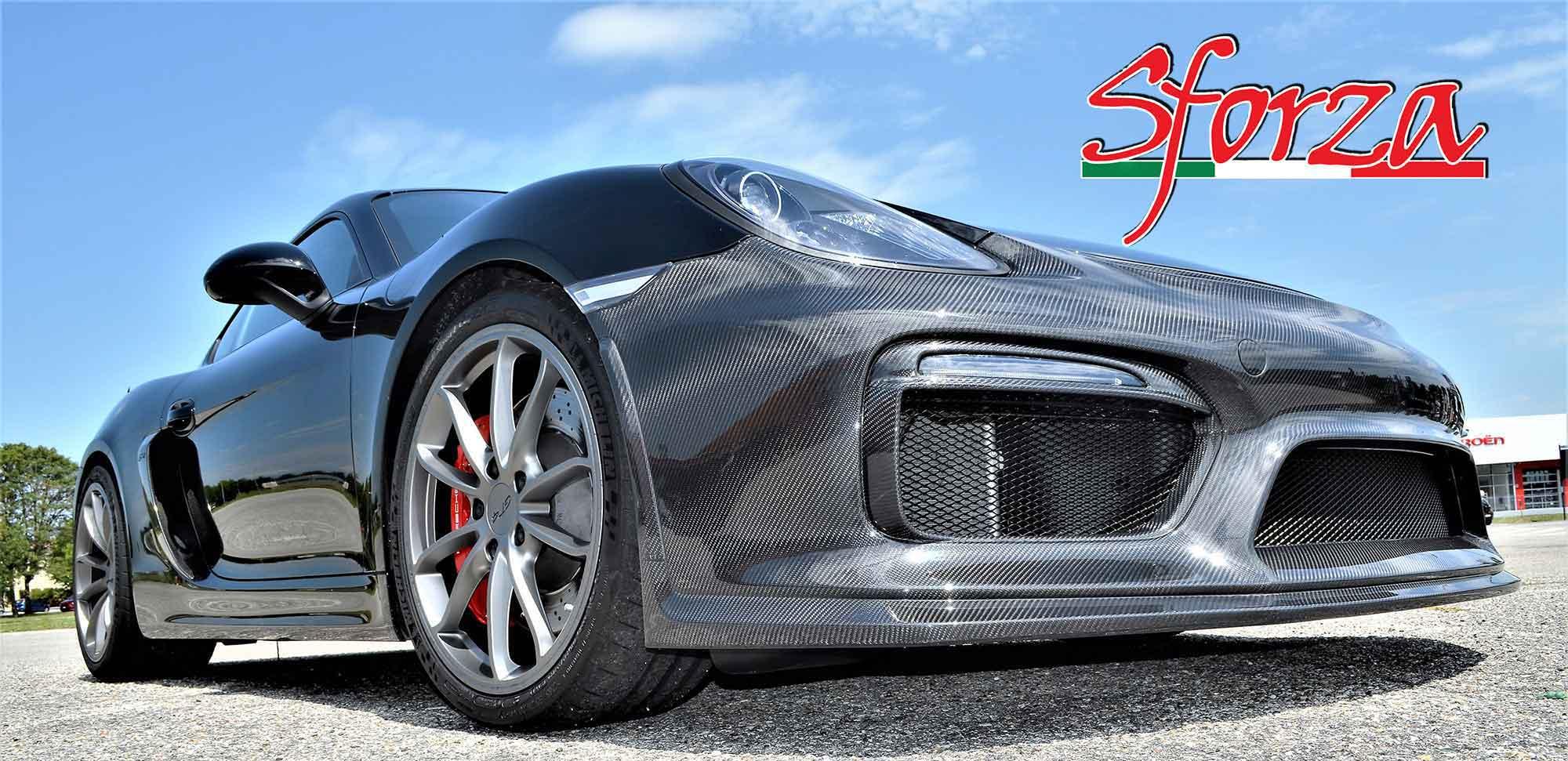 Porsche 981 Cayman GT4 paraurti carbonio anteriore