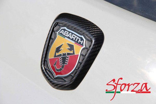 abarth 500 cornice carbonio stemma posteriore