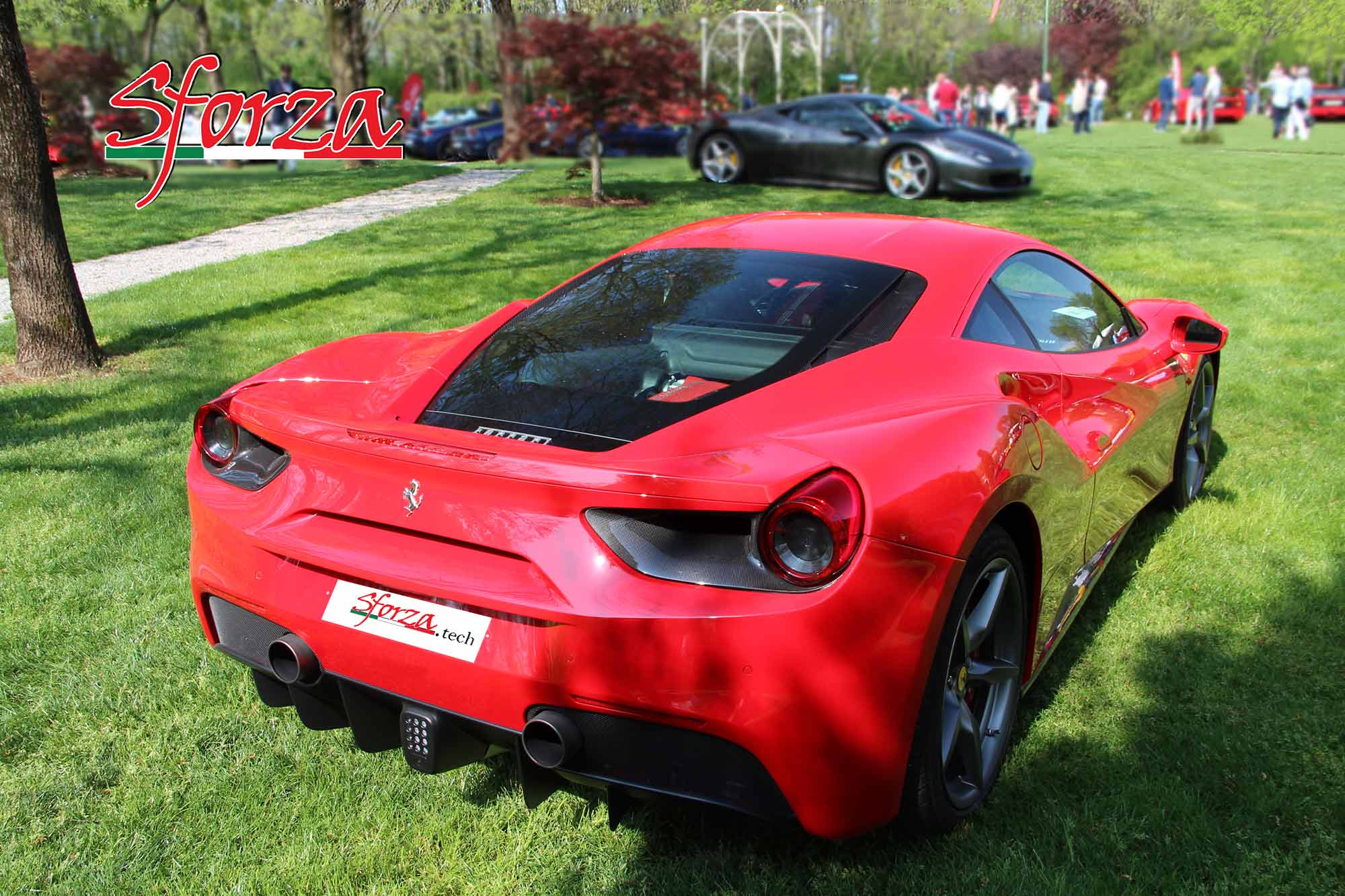 Ferrari 488 Carbon rear light tail surround