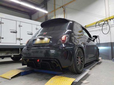 Abarth 595 Fiberglass rear diffuser Sforza