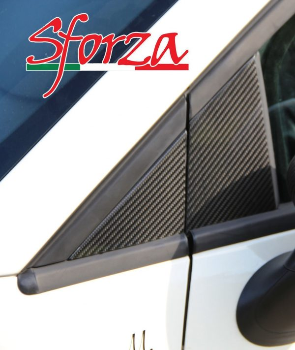 Abarth 500 carbon door triangle covers