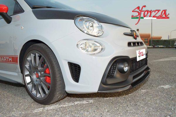 Abarth 595 carbon front splitter sforza design
