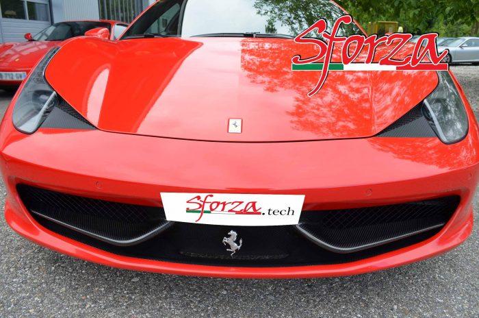 ferrari 458 italia carbon front bumper wings