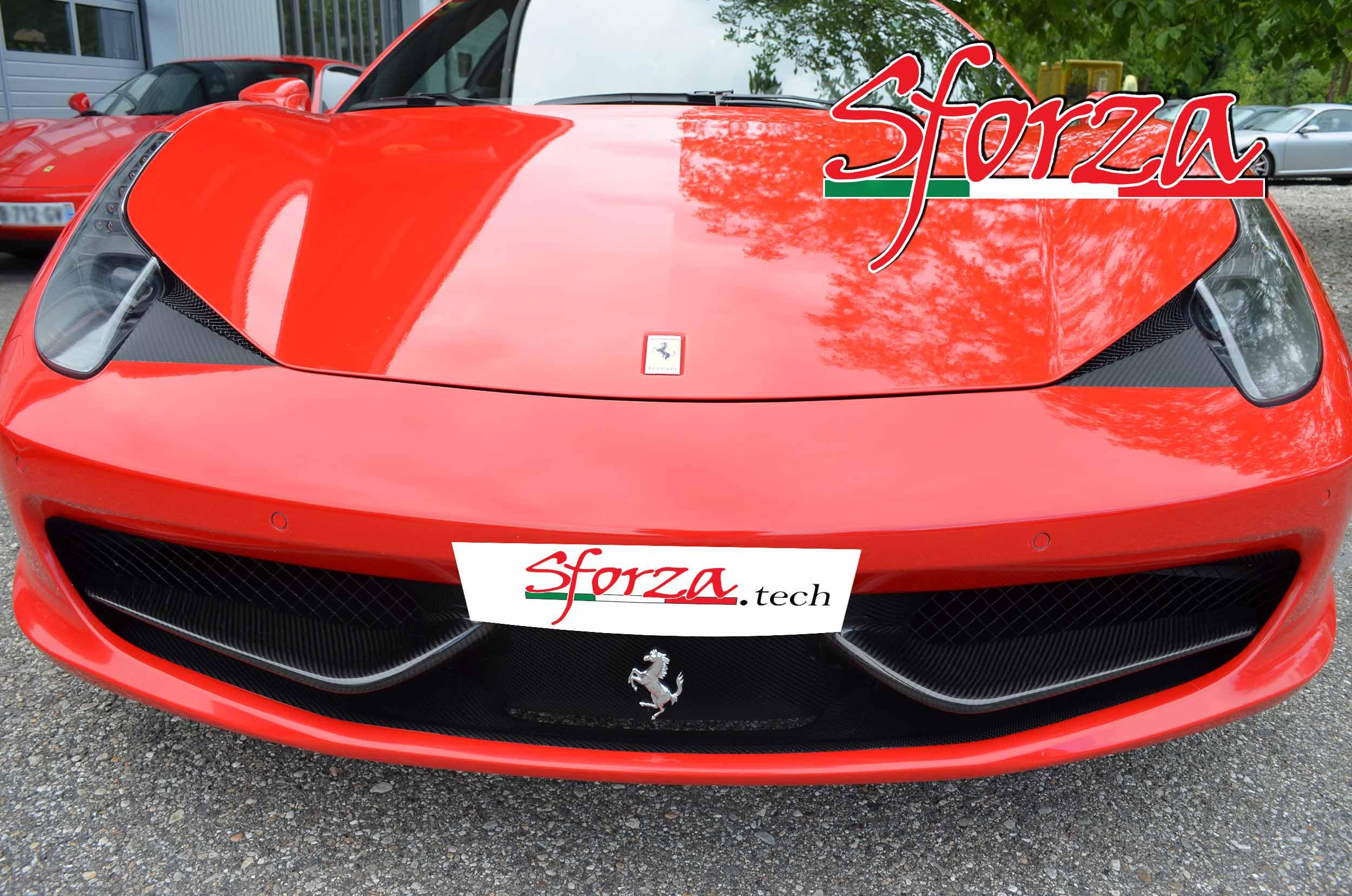 Ferrari 458 Front Bumper Carbon Wings Italia Spider