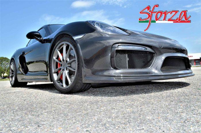 Porsche Cayman paraurto carbonio