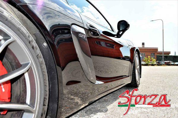 Porsche 981 cayman gt4 guance carbonio laterali