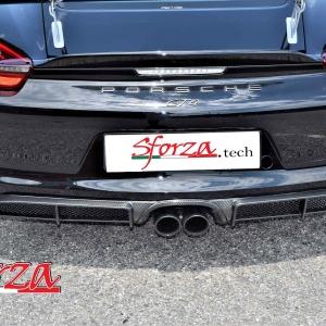 Porsche Cayman estrattore carbonio