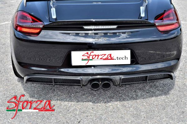 Porsche 981 cayman GT4 boxster diffusore carbonio