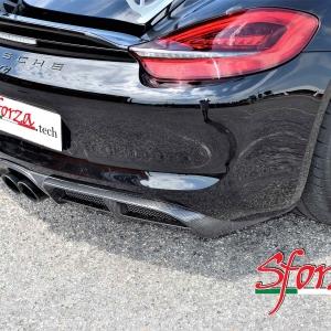 Porsche cayman GT4 diffusore posteriore carbonio