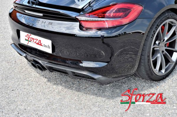 Porsche 981 cayman gt4 diffusore posteriore carbonio
