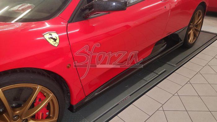 Ferrari F430 minigonne sottoporta carbonio