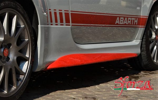 abarth 595 minigonne vetroresina biposto stile sforza