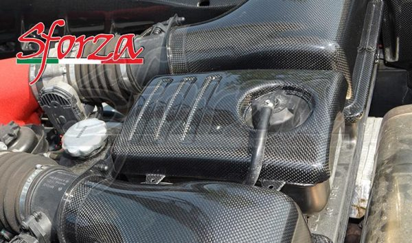Ferrari F430 carbon fiber cooling tank cover engine