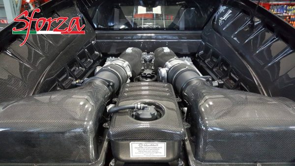 Ferrari F430 carbon fiber engine bay panels berlinetta