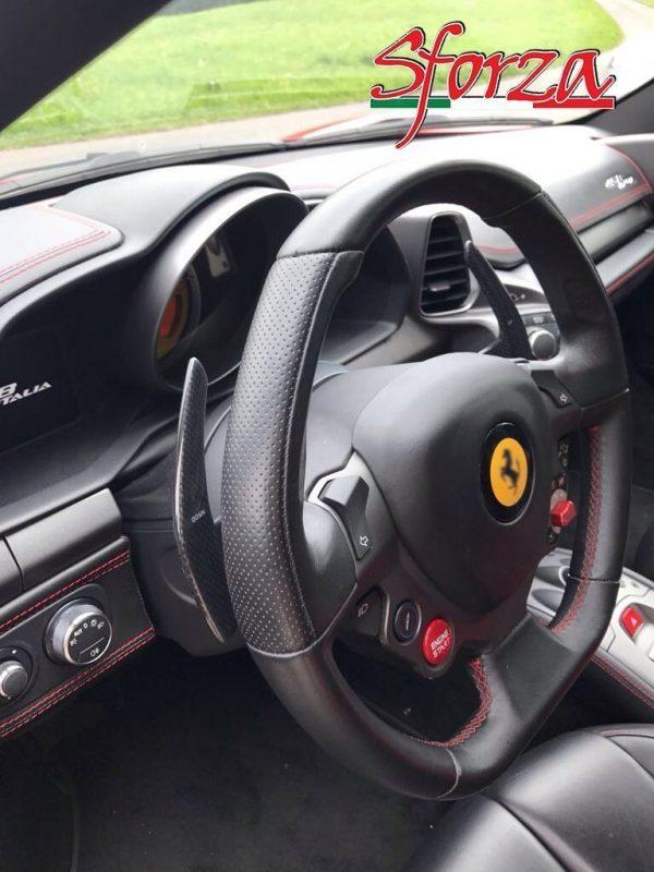 Ferrari 458 Italia Carbon fiber gearbox levels shift paddles f1