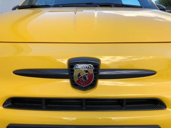 Abarth 595 carbon front emblem frame air intake