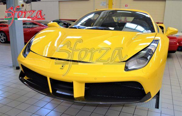Ferrari 488 GTB Spoiler anteriore carbonio giallo modena