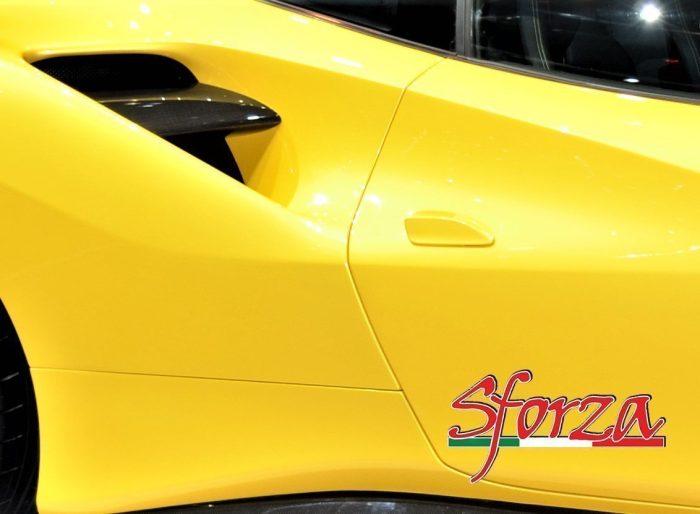 Ferrari 488 Deviatori Flusso aria Carbonio