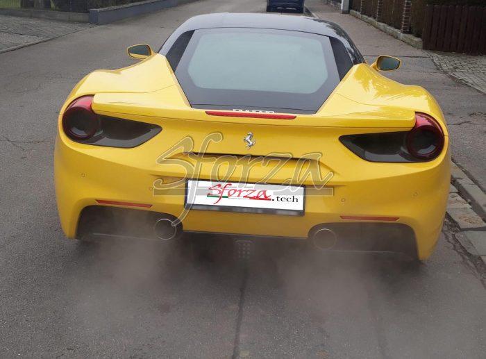 Ferrari 488 gtb satelliti fari posteriori carbonio giallo modena