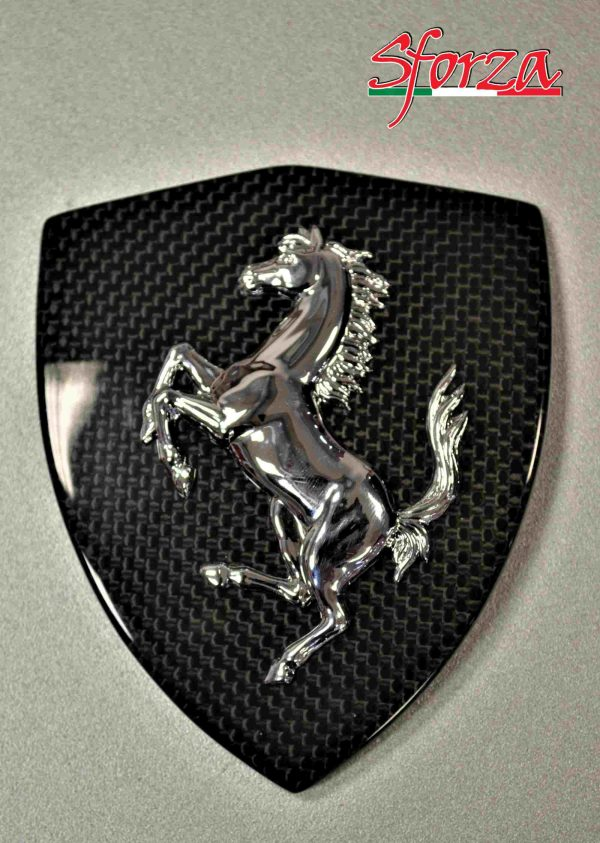 Ferrari 488 Spider carbon front fender shield emblem