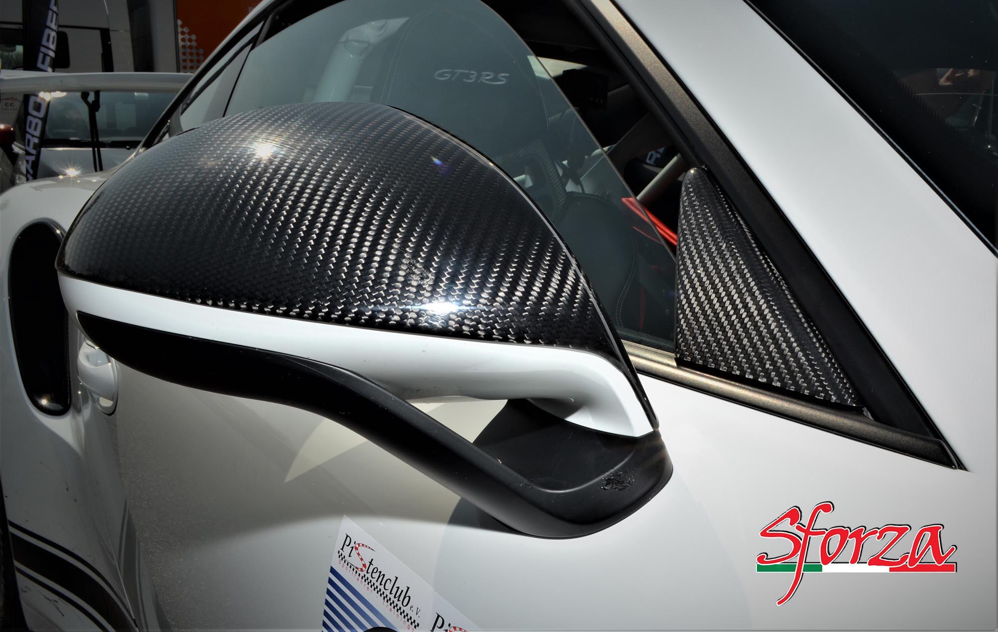 Porsche 911 991 981 Cover Calotte Specchietti Carbonio Sport Design