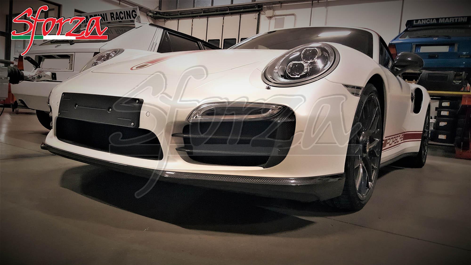 Porsche 911 991 Turbo mk1 Spoiler anteriore carbonio
