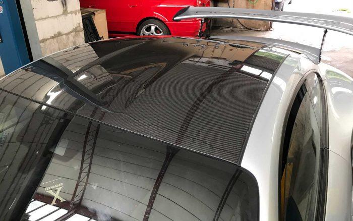 Porsche 991 pannello tetto carbonio a vista GT3 RS