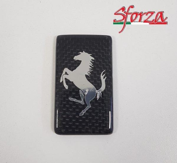 Ferrari scudetto carbonio badge paraurti anteriore