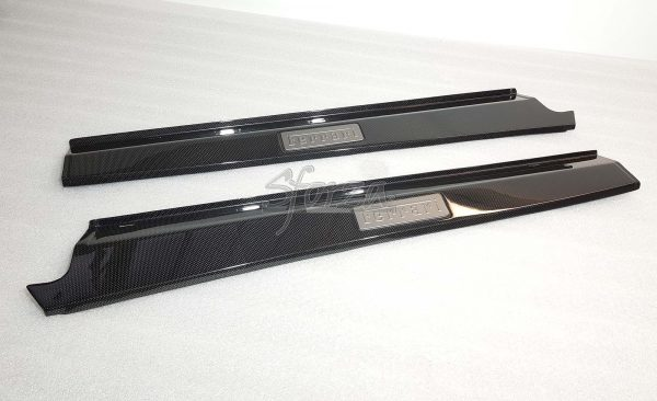 Ferrari F430 carbon kickplates sills Scuderia with oem badge
