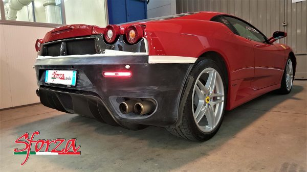 Ferrari F430 Paraurti posteriore per collegatore carbonio scuderia