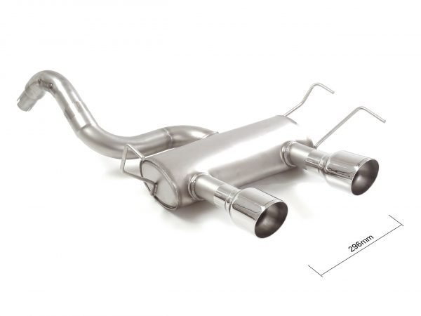 Abarth 500 595 rear exhaust  silencer end pipes 102 mm sport line