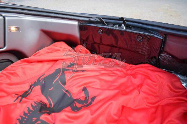 Ferrari F430 Copriserratura vano baule carbonio