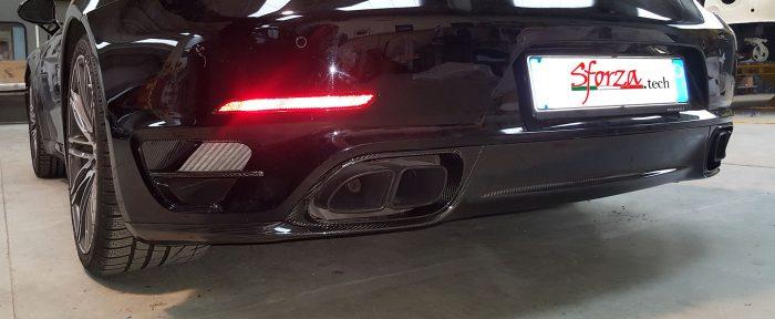 Porsche 991.1 Turbo fascia sottoparaurti carbonio