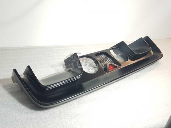 Abarth 595 estrattore posteriore scuderia nero opaco