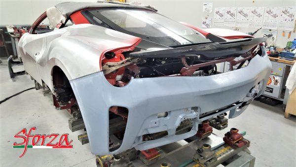 Ferrari 488 Pista paraurti posteriore carbonio