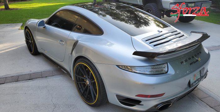 Porsche 991 turbo componenti carbonio